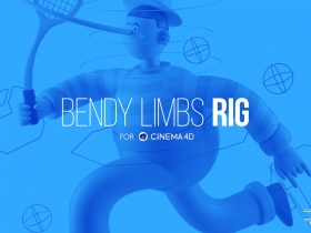 柔软风格人物角色C4D绑定插件 Eyedesyn – Bendy Limbs Rig for Cinema 4D R17-R21...