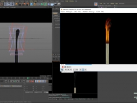 火柴燃烧变黑效果C4D教程Modeling a Matchstick and burning it down in Cinema 4D
