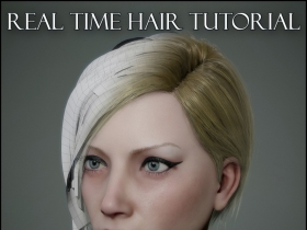 3DS MAX游戏人物头发建模教程 Gumroad – Real Time Hair Tutorial by Georgian Av...